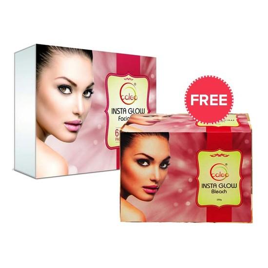 Caleo Instaglow Facial Kit (250 G) + Free Caleo Insta Glow Bleach (250 G)