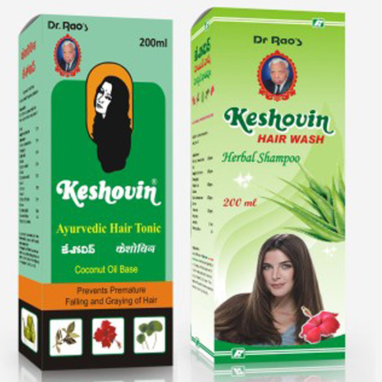 Dr.Rao's Combo Of Keshovin (Herbal Hair Tonic)(200 Ml) + Keshovin Hair Wash (200 Ml)