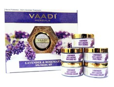 Vaadi Herbals Lavender Anti-Ageing Spa Facial Kit With Rosemary Extract (270 g)