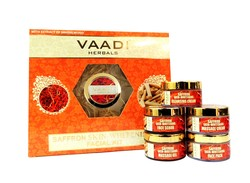 Vaadi Herbals Saffron Skin-Whitening Facial Kit With Sandalwood Extract (270 G)