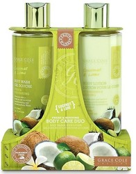 Grace Cole Coconut & Lime Fresh & Reviving Body Care Duo Body Wash & Body Lotion