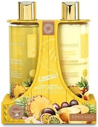 Grace Cole Pineapple & Passion Fruit Fresh & Reviving Body Care Duo Body Wash & Body Lotion