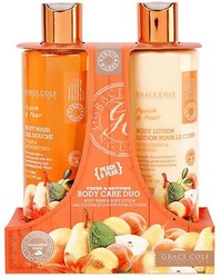 Grace Cole Peach & Pear Fresh & Reviving Body Care Duo Body Wash & Body Lotion