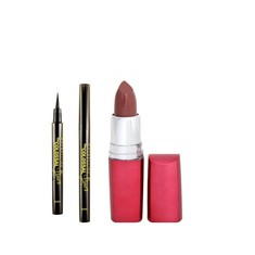Maybelline The Colossal Liner (1.2 g) + FREE Maybelline Color Sensational Lip Color Brick Rose RC41 (4 g)