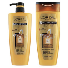 L'Oreal Paris Hair Expertise 6 Oil Nourish Shampoo (360 Ml) + Free L'Oreal Paris Hair Expertise 6 Oil Nourish Shampoo (175 Ml)