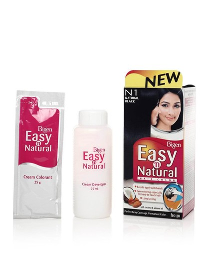 (Buy 1 Get 1 Free)Natural Black N1-Bigen Women Easy N Natural Hair Colour Kit
